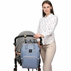 Сумка-рюкзак для мам Premium голубая